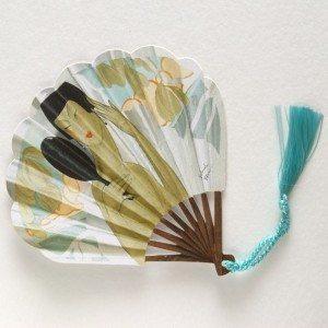Courtier fan-shaped card