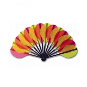 Palmito Handheld Fan Yellow & Rose | The Fan Museum Shop
