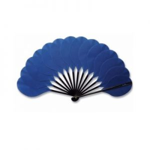 Palmito Handheld Fan Blue | The Fan Museum Shop