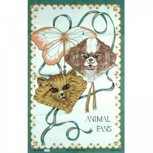 Animal-print tea towel