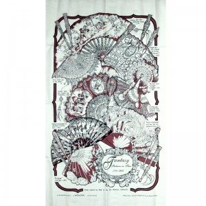 Fans tea towel (red)