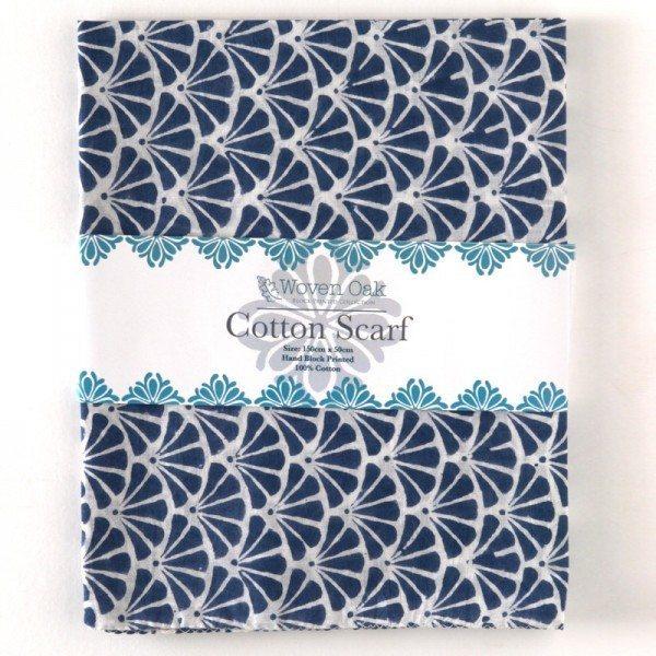 Cotton Scarf (blue)